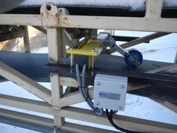 Built-in belt scale ESW 2.2 for weighing of dolomit brick